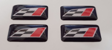 4 X GEL/DOMED 3D CUPRA Small Rectangle Logos